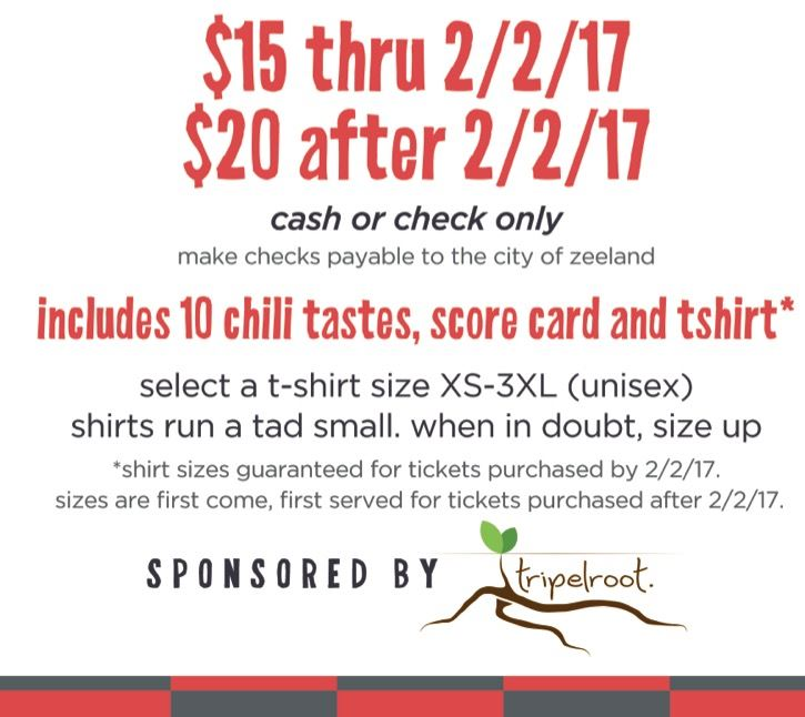 chili crawl ticket and tshirt info