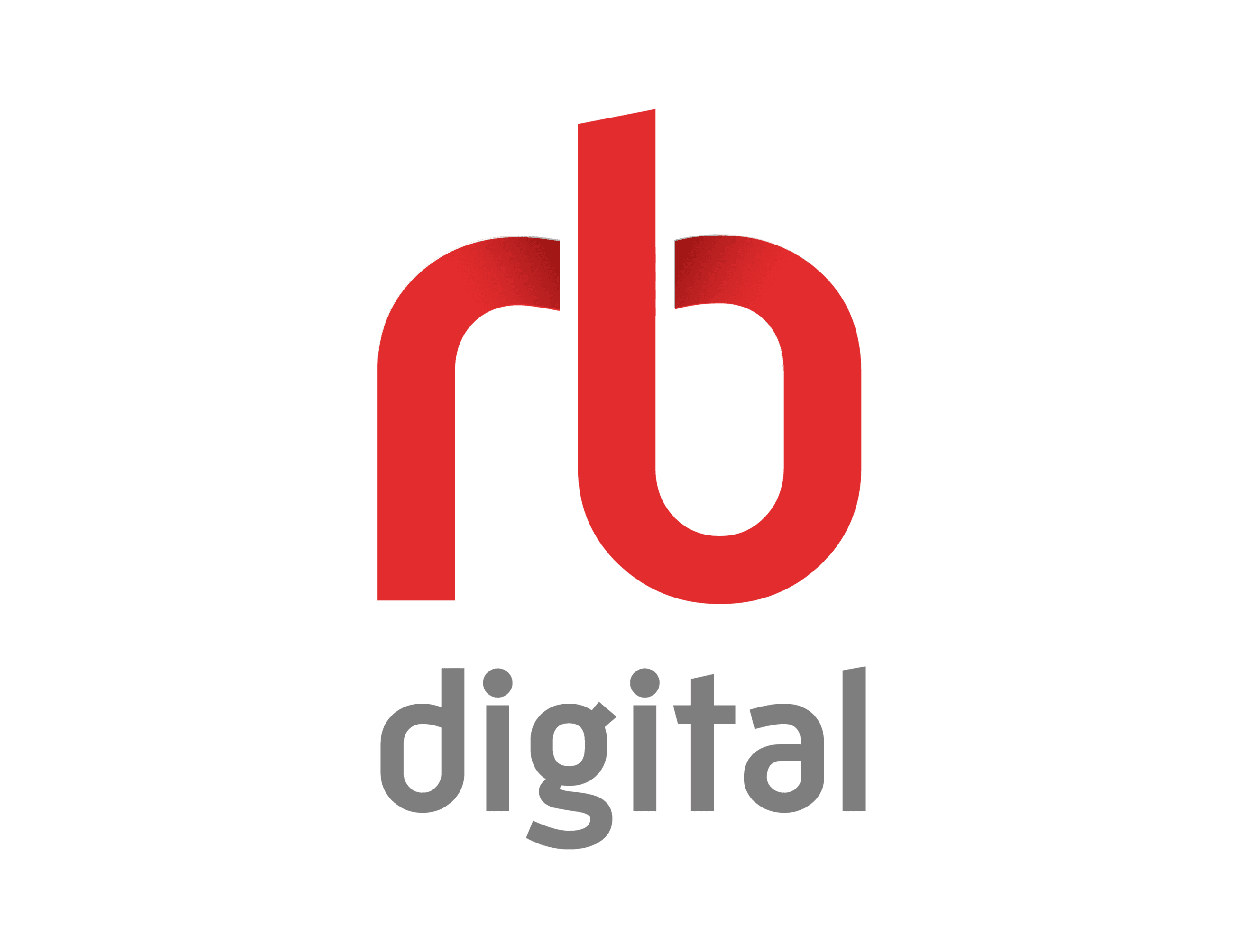 RB Digital Red and Silver Logo