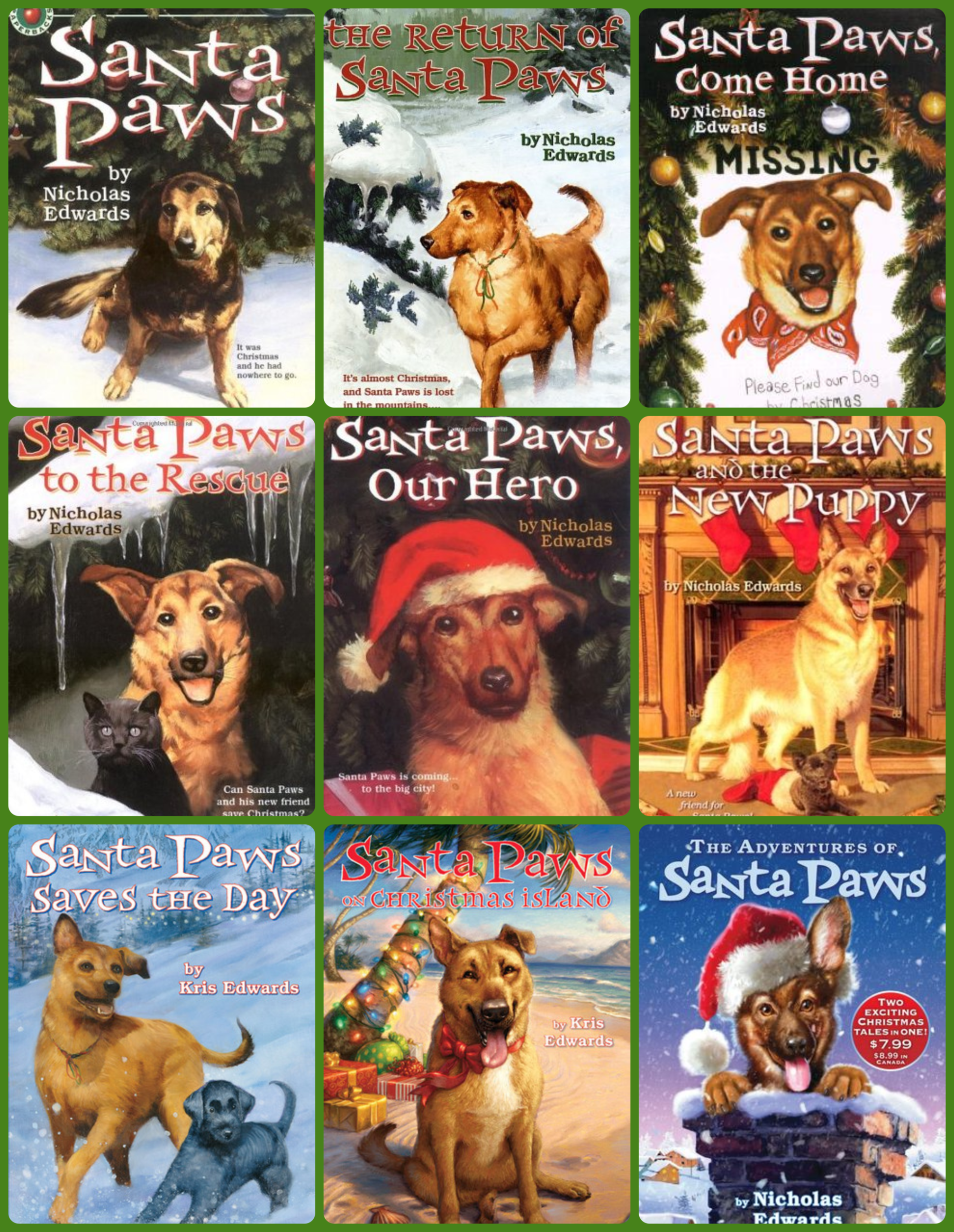 Santa Paws Series Collage