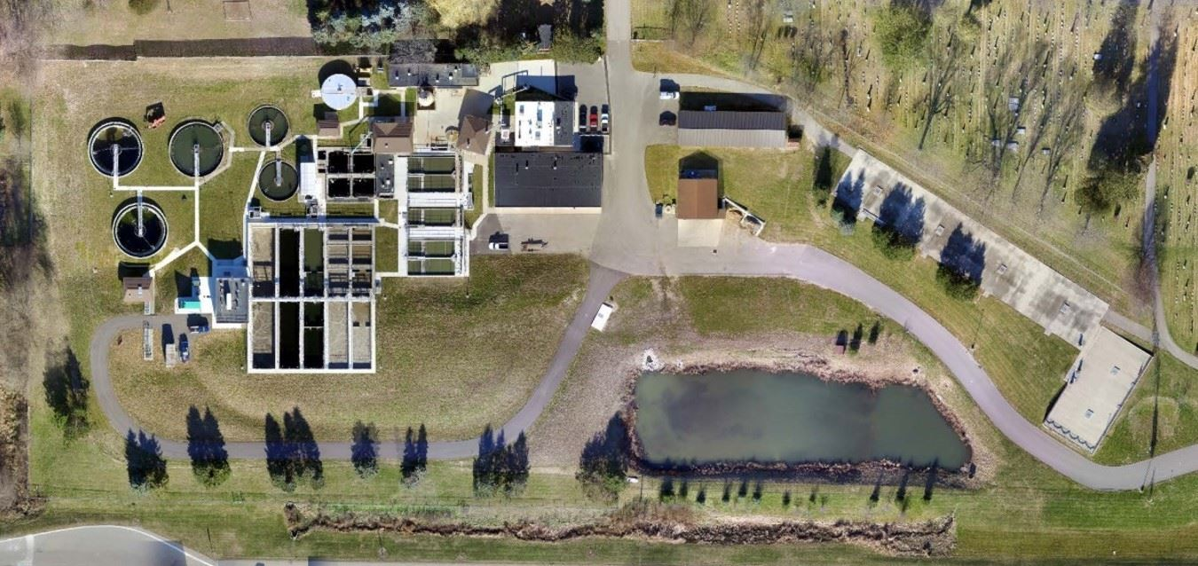 Clean Water Plant Aerial Picture
