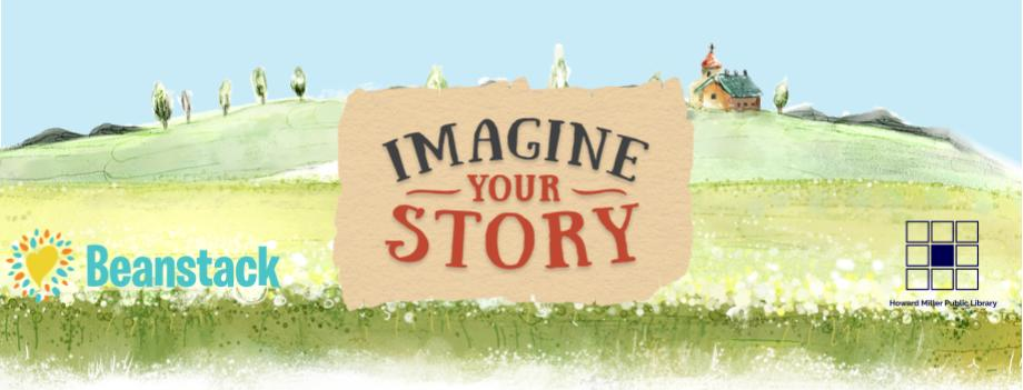 Adult Summer Reading Imagine Your Story Banner with logos