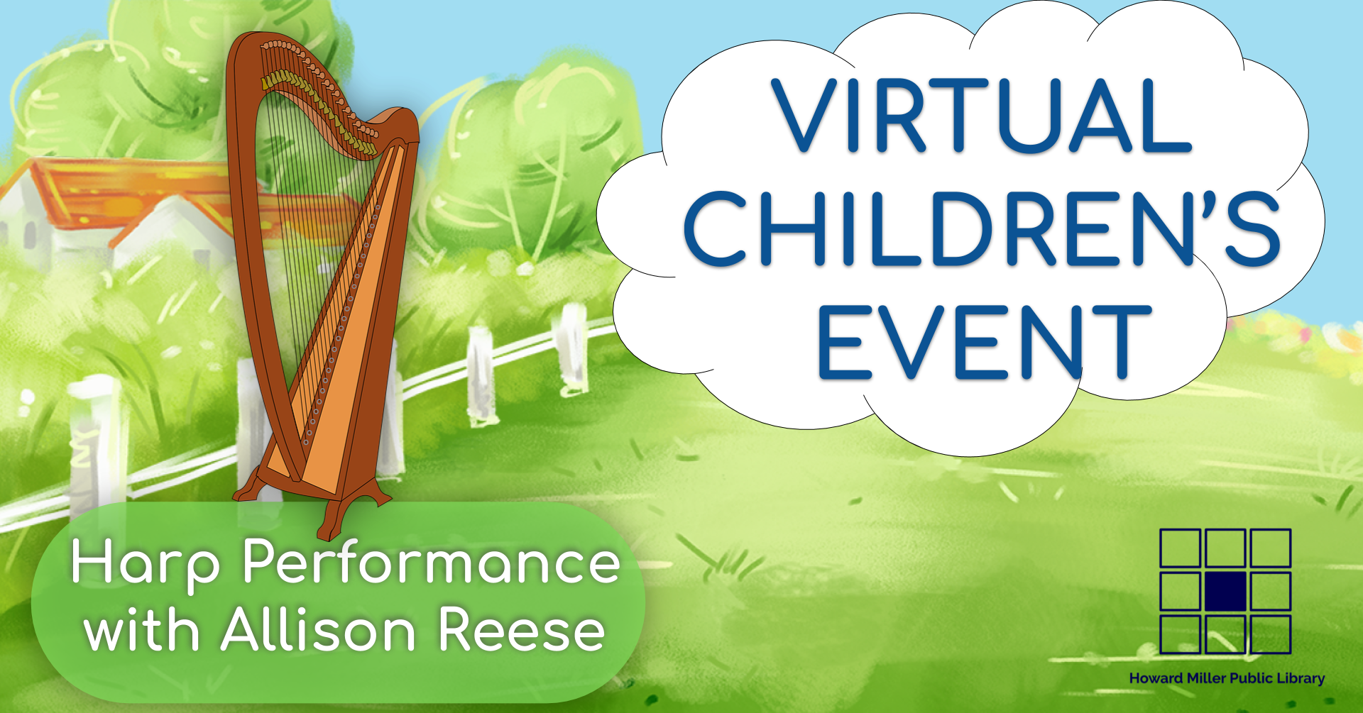 Virtual Children Event Cover Harp Performance
