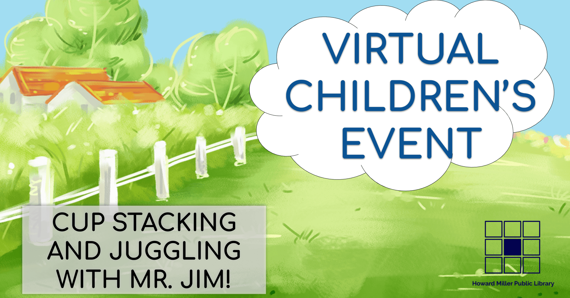 Virtual Children Event Cover Mr. Jim Merrills Cup Stacking