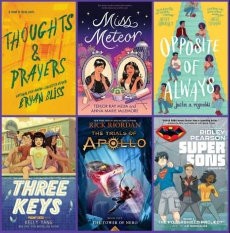 New Releases Collage 9 Book Covers Tween and Teen