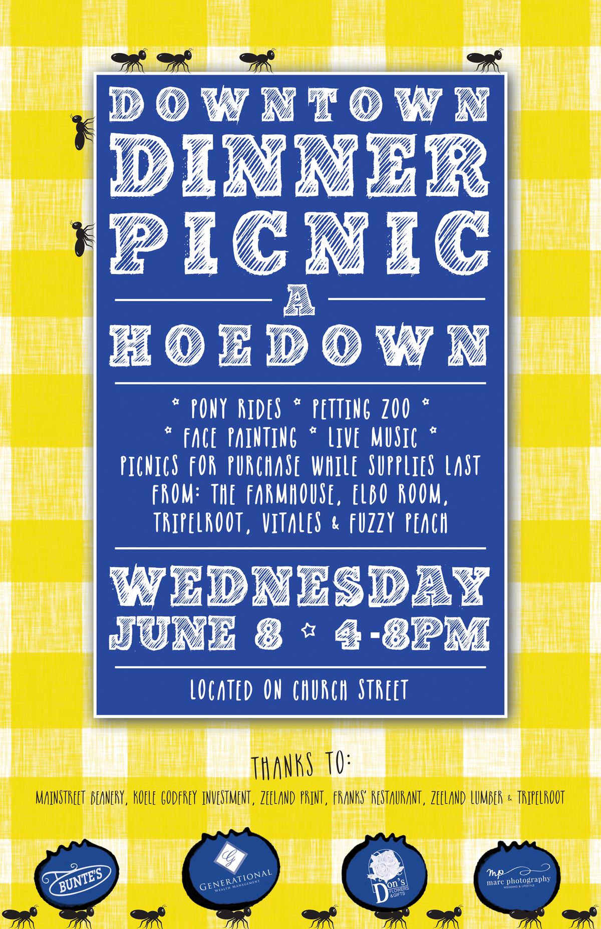 downtown dinner picnic poster FINAL web