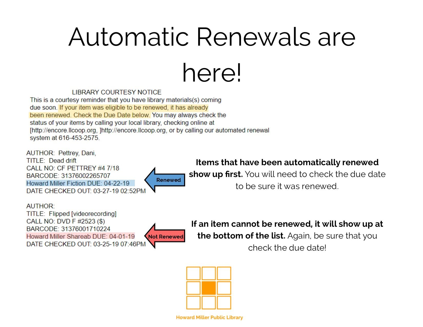 Automatic Renewal Email Confirmation